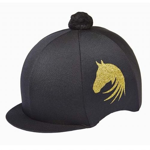 Elico Signature Lycra Hat Cover in Black/Gold